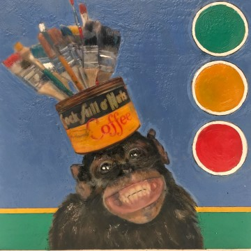 Portrait of the Artist As a Young Chimp